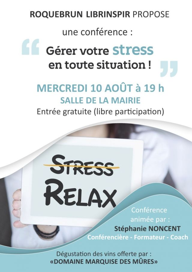 Affiche conference stress